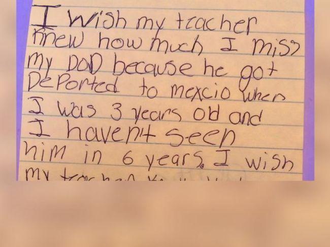 這名老師請她班上的窮學生寫他們想要老師知道的告白在一張紙條上,結果看到紙條後讓她淚流滿面!