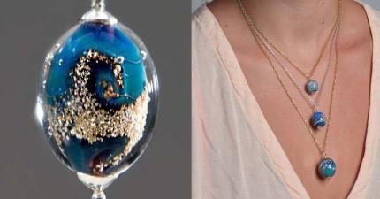這顆手工打造的玻璃珠絕對獨一無二,因為裡面灌注的是「生命」!