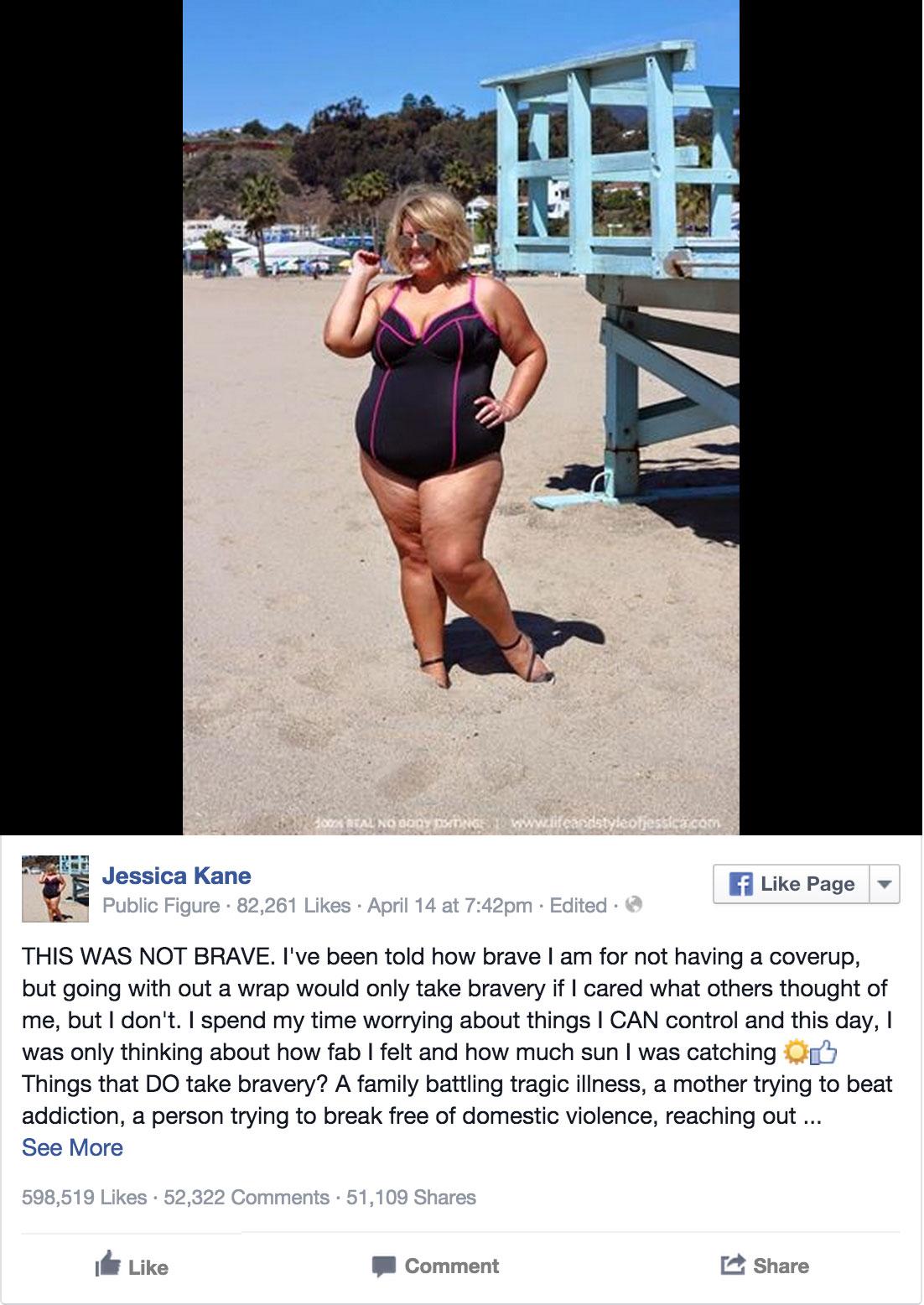 這個女孩兒的泳裝照因為一個很料想不到的原因在網路上被瘋傳。