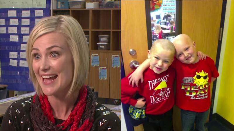 這名7歲小男生在得知自己死黨得了白血病之後,就回家請媽媽立刻教他怎麼織圍巾。