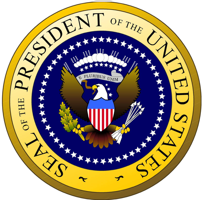 There are only 3 Presidential Seals housed in the country. The Oval Office, The hall where the Liberty Bell is housed, and The Hall of Presidents in Disney World.
