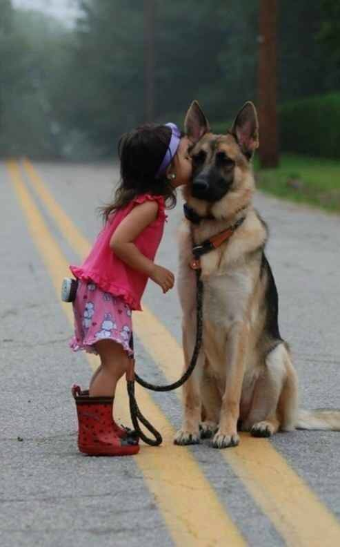 He's always a gentleman with his little lady.