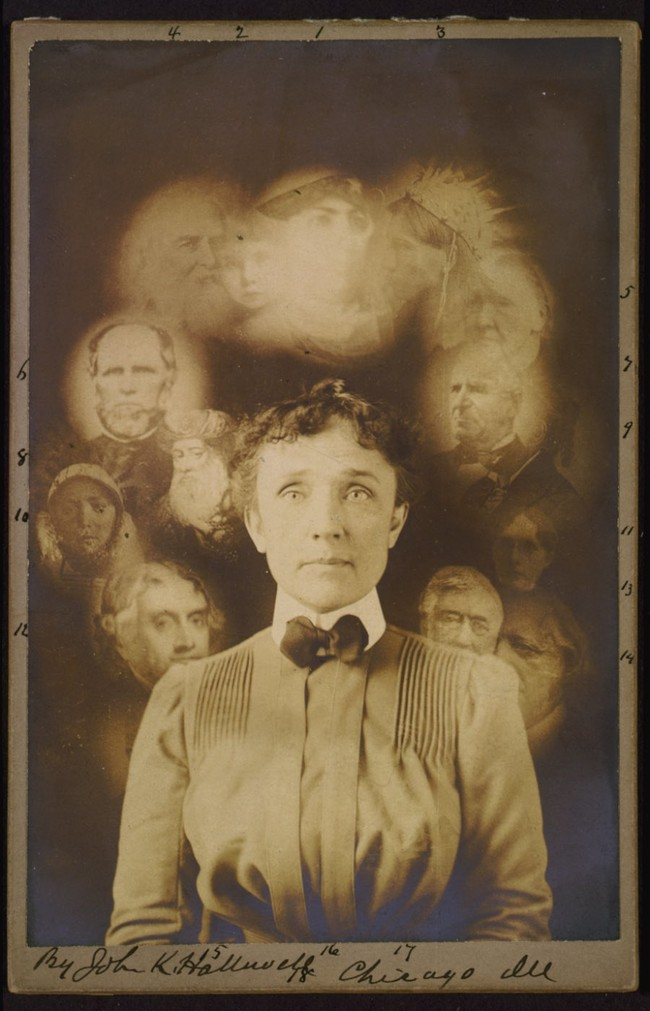"""A """"spirit"""" photograph, John K. Hallowell, ca. 1901"""