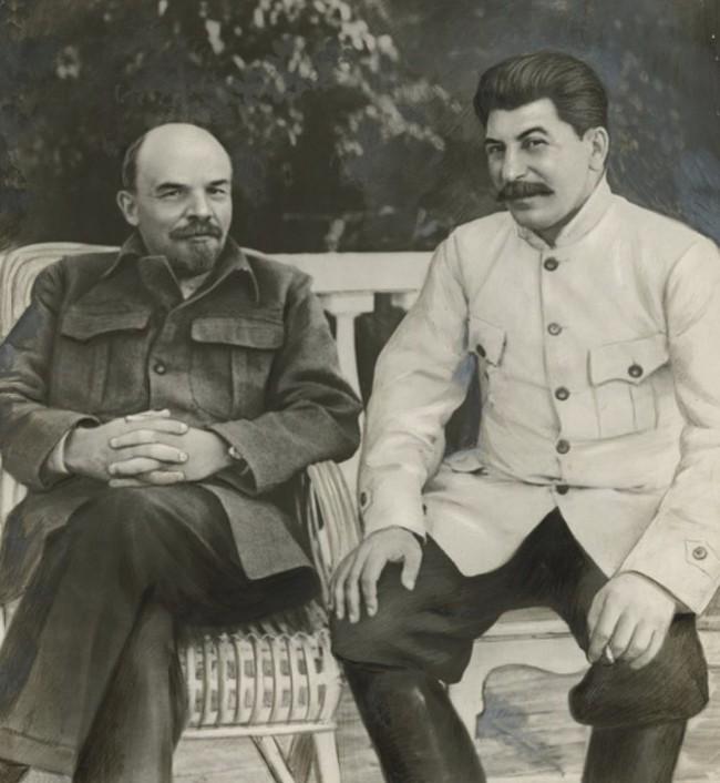 <em>Lenin and Stalin in Gorki in</em> 1922