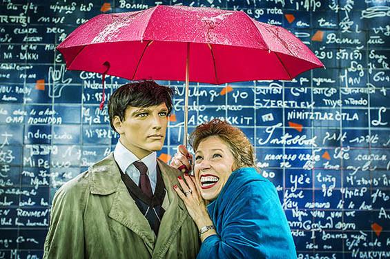 A gentleman always carries an umbrella.