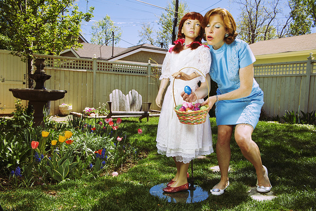 Nothing like an Easter egg hunt with Mom!