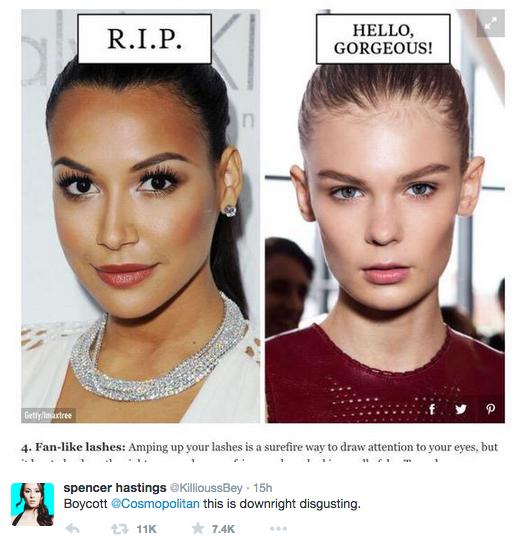 《柯夢波丹》雜誌利用黑人和白人照片的方法惹網友狂罵,你看出嚴重歧視意味了嗎?