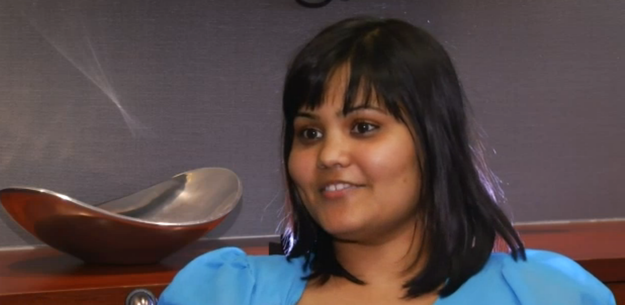 This is Indiana University PhD student Yamini Karanam. The 26-year-old decided to seek medical help after she started having problems listening to conversations.