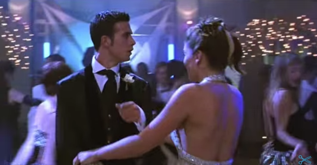 ...but during the prom scene the tattoo is clearly gone.