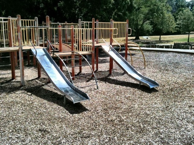 And finally, whenever you went to the park on a hot day and received third-degree burns as you went down the metal slide — not to mention temporary blindness from the reflection.
