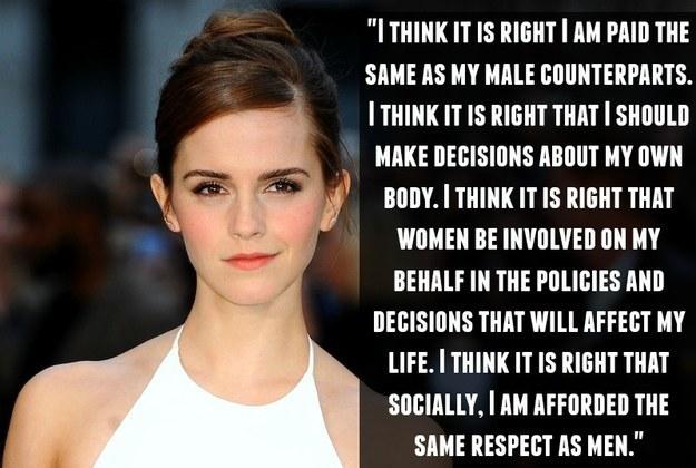 On gender equality: