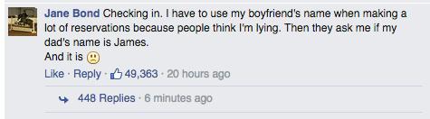 這位女孩因為本名叫做「碧昂絲」而感到很困擾,沒想到引來了很多「同類」來安慰她!