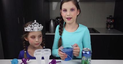這個8歲小女生在Youtube上做點心就月入400萬!《冰雪奇緣》冰棒真的太酷了!