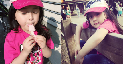 這個才5歲大的小女生讓網友稱是世上最萌小女孩。