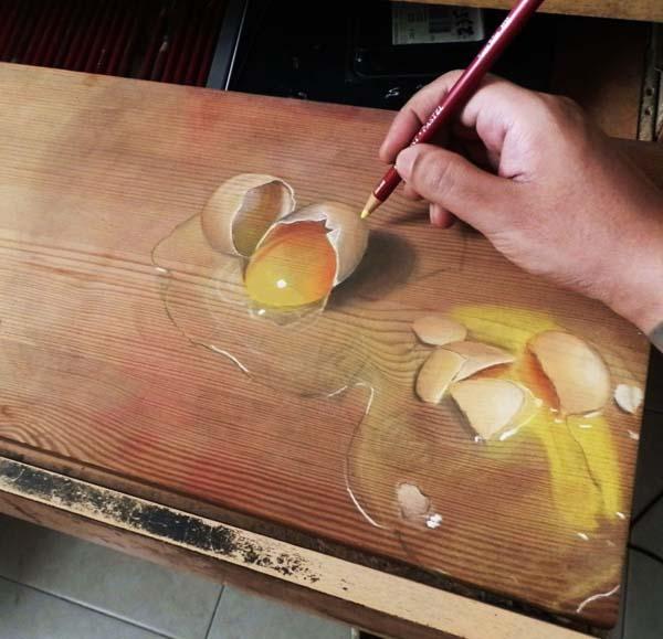21張讓你以為「畫作復活」的超神奇錯覺藝術 你能分辨哪個是真哪個是假嗎?