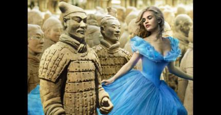 網友將灰姑娘合成進中國7個都市...看到北京那張時我飯已經噴到朋友臉上了。