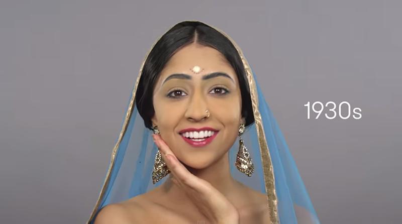 90秒帶你看盡100年來印度最美女性的妝容風華。