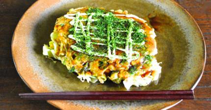 原來大阪燒這麼簡單!輕鬆幾步驟,教你做出青菜滿滿又超美味日本大阪燒!