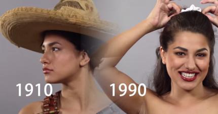 用1分鐘看完100年來墨西哥女性的美改變了多少。