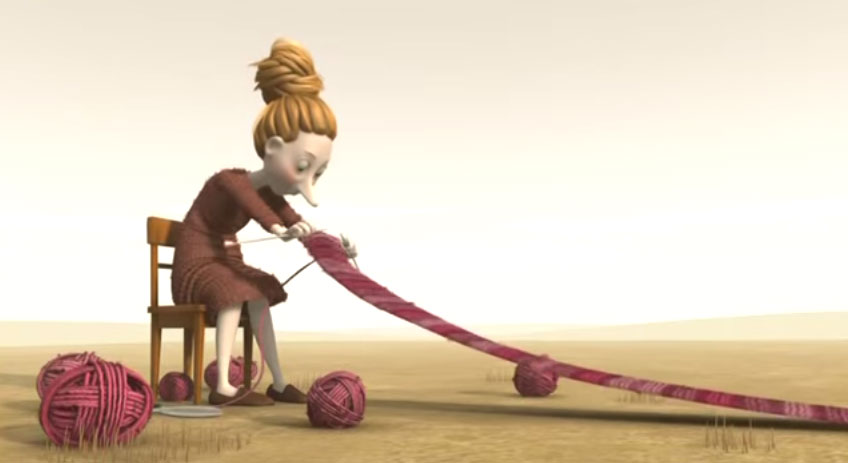看完這支女生織圍巾的影片,你就會學會怎麼做才能天天開心。