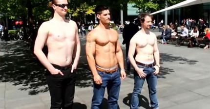 究竟女性喜歡什麼樣的男性身材?這名英國約會專家上街問「你喜歡哪個身材」的結果會讓你發現你一直都想錯了!