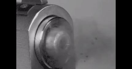 當你把子彈發射的影片放慢到肉眼看得到時,才會了解槍到底有多麼可怕!