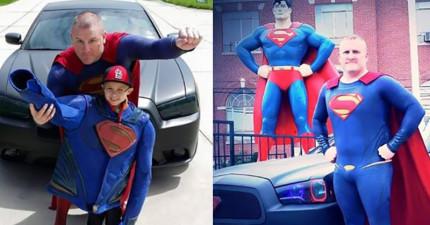 這名警察化身為超人並且開著他的超人車11個小時,這是個會讓你充滿希望的偉大故事。