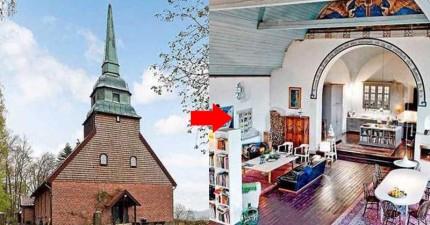 從外看是個廢棄老教堂,但當你走進一看...是你想要住一輩子的改造豪宅。