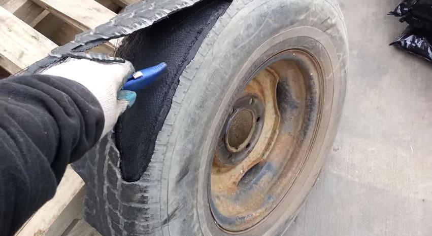 這個人不知道輪胎絕對不能拿刀亂割,結果一割之後...我都被嚇到滑鼠掉地上!