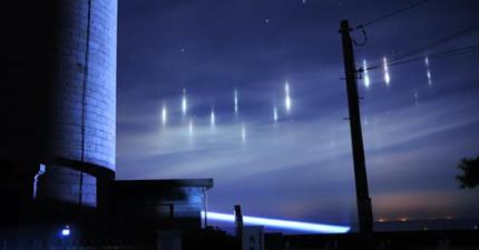 日本上空出現不明光影!很多人可能會大喊UFO,但我必須跟你說...原因是因為...魚?