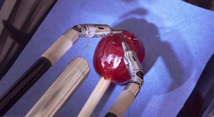 看完這支超精密「達文西機器人手臂」縫葡萄的影片後,你就再也不會想要人類手幫你動手術了!