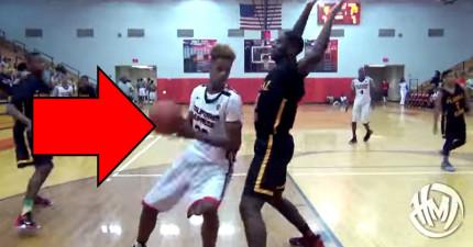 看到俠客歐尼爾15歲兒子在球場上的誇張表現...難道他會是NBA下一個萬夫莫敵的禁區猛獸嗎?