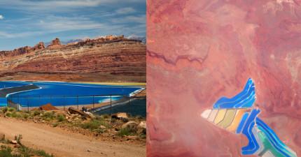 我在Google Maps上看科羅拉多河時發現到這些五顏六色的池子!真的不是PS上去的!
