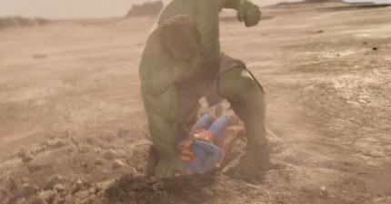 這就是所有人都超想要看的「浩克PK超人」的超超超精采打鬥影片!