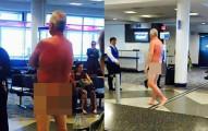 因為票務疏失而飛不成,這位大哥在機場氣到一個衣服炸裂展現胴體一小時!