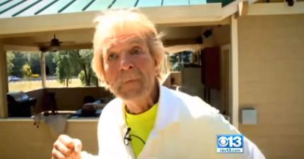這名73歲的男子為了保護他的愛犬,情急之下居然一拳打在野熊的臉上!