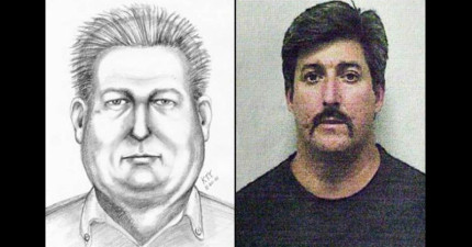 21張警察聽受害者敘述而畫出的犯人素描。