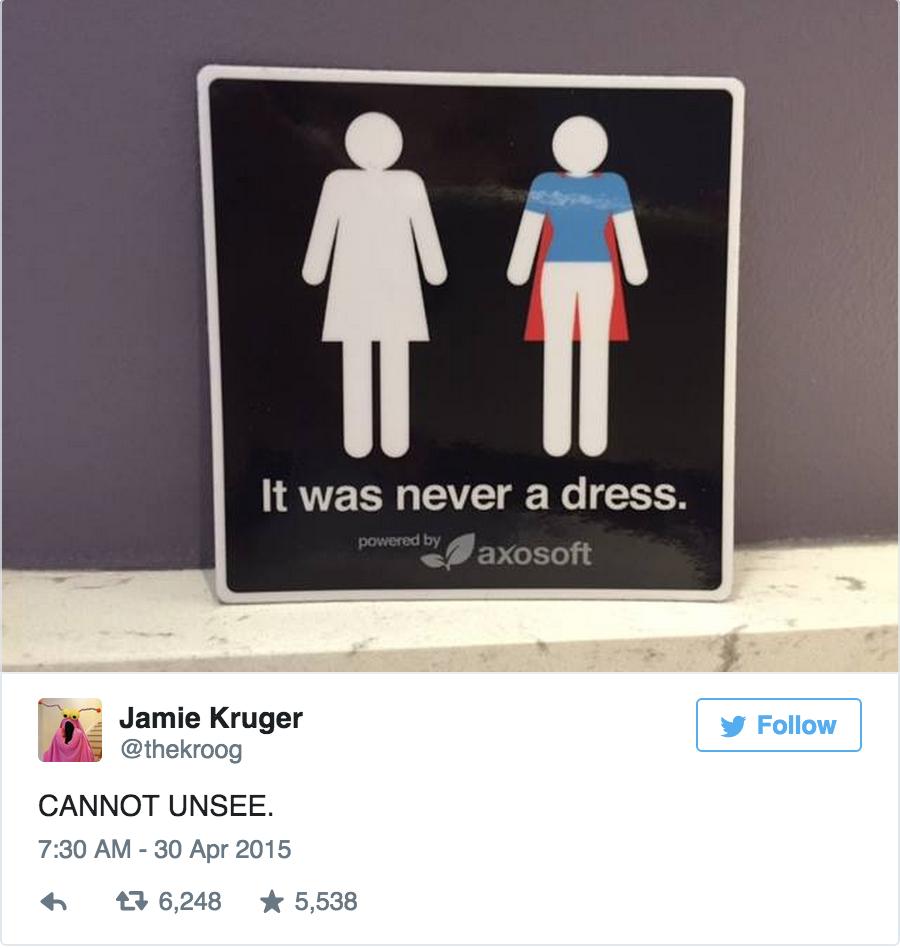 我們都搞錯了,原來女廁所標誌是這個意思!這會永遠改變你看這個標誌的看法。