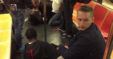 在紐約地鐵上遇到鬥毆事件,在度假的4名帥哥瑞典警察沒忘了帶正義出門!