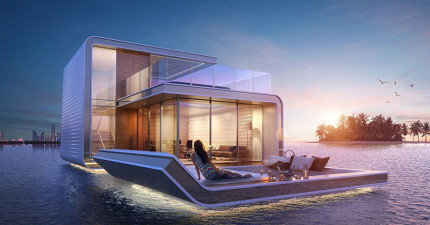 這棟漂浮豪宅打趴其他豪宅的不是水面上的設計,而是「水底下」的!