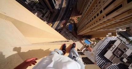 這名高手拍下從一個摩天高樓凸角跳躍到另一個的短短15秒,已經讓我嚇到要去換件褲子了。