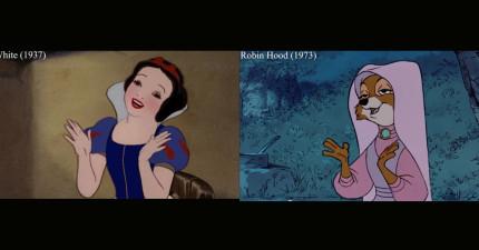 有沒有發現迪士尼卡通裡的角色行為動作都很像?事實上,因為他們真的是「完全一樣」的!