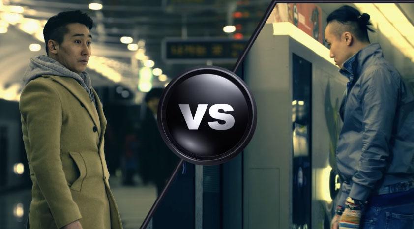 他們在等地鐵時發現自己出現在大螢幕上,接著就被指示需要跟另一名乘客「PK」。
