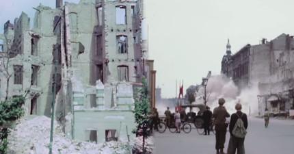 這支稀有1945年拍下的納粹德國剛打敗仗後的柏林市影片,看完才真正了解到戰爭的可怕!