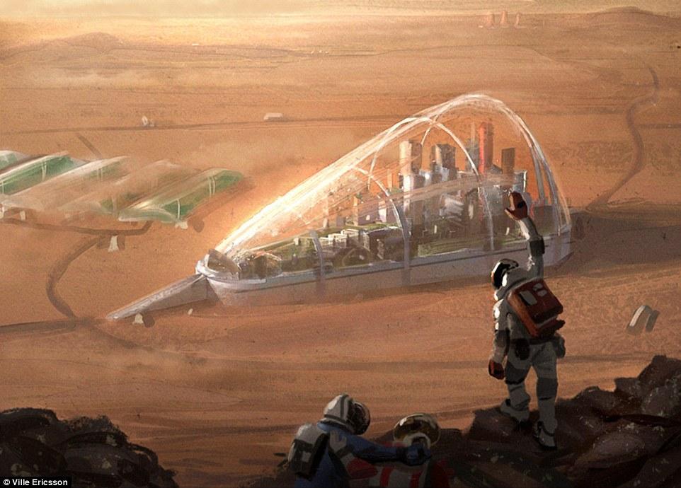 人類距離可以登陸火星、甚至在火星上設立殖民地的這一天,可能已經不遠了,或許在21世紀就能夠達成。雖然實際上尚未達成,但一名26歲的瑞典藝術家威樂 (Ville Ericsson) 已經先將概念圖繪製出來。