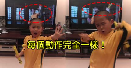 看完這支影片後,你就會堅信這個5歲小男生就是李小龍再世!