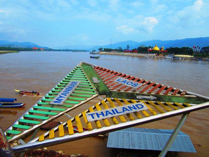 A Golden Trianglw Between Thailand, Myanmar And Laos.