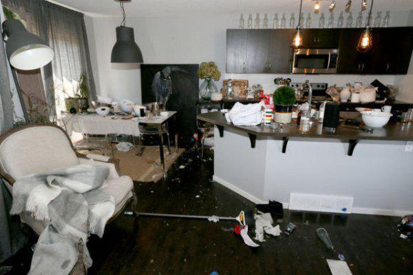 這對情侶把房子租出去3天後,回來就見到了會讓你永遠不敢把房子租出去的恐怖225萬損壞。