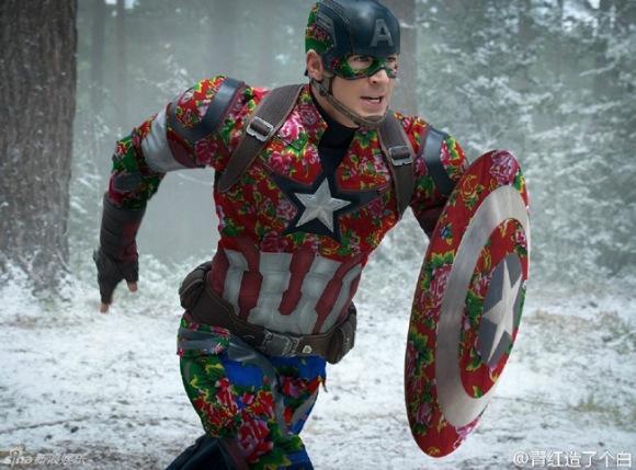 如果《復仇者聯盟2》英雄都換上中國風大花布...浩克你先把那肚兜脫下好嗎?!