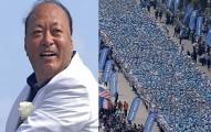中國富豪花11.3億帶6400名員工到法國旅遊,創下了《金氏世界紀錄》最大規模人體組字!